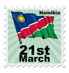 Post stamp of national day of namibia vector