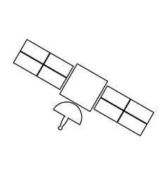 Satellite black color icon vector
