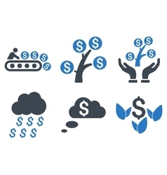 Success startup flat icons vector