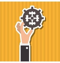 Teamwork wirth gear design vector image