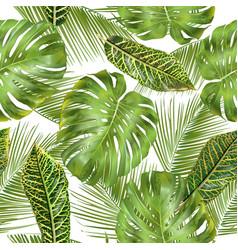 tropial leaves pattern vector image vector image
