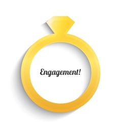 Wedding ring with diamond Engagement ring vector image