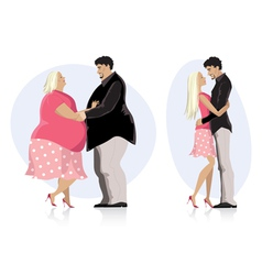 Dieting couple in love vector