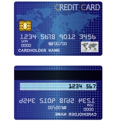 Credit card of the stars vector