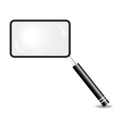 magnifying glass in shape of square vector image