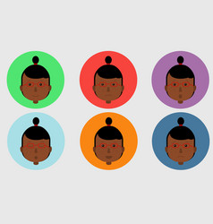 set of avatars expressing various emotions vector image