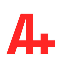 A grade text graphic vector