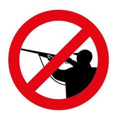 no hunting vector image