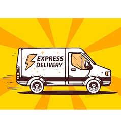 Van free and fast express delivery to cus vector