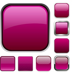 Square magenta app icons vector