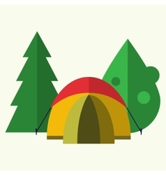 Tent in forest vector