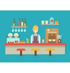 Bar counter vector
