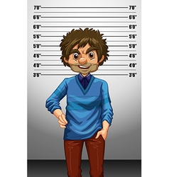 Man with measuring height vector