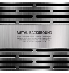 Abstract techno metal background vector image vector image