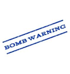 Bomb warning watermark stamp vector