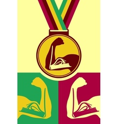 Book medal vector image