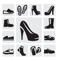 boots men and women vector image