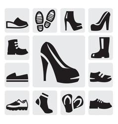 boots men and women vector image vector image