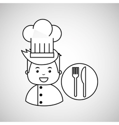 cartoon chef gourmet restaurant concept vector image