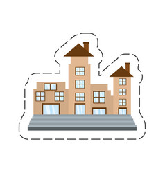 Cartoon real estate apartment building vector