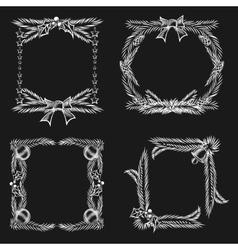 Chalkboard Christmas Ornament Frames vector image vector image