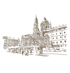 City drawing vector image vector image