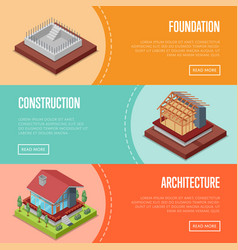 countryside house building posters set vector image vector image