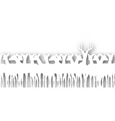 deer cutout vector image vector image