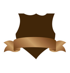 emblem heraldic with label and brown background vector image