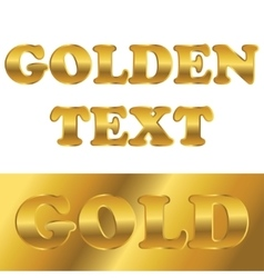 Golden metallic text with gradient vector image