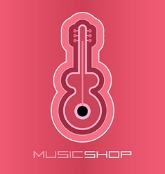 guitar on pink vector image