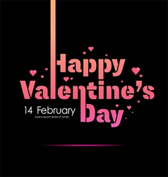 Happy valentines day sign typography vector
