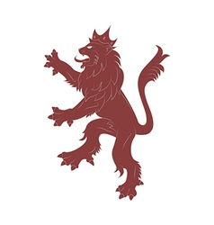 Heraldry red lion vector