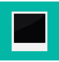 Instant photo in flat design style Template vector image