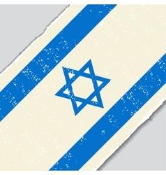 Israeli grunge flag vector
