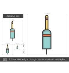 Jack plug line icon vector