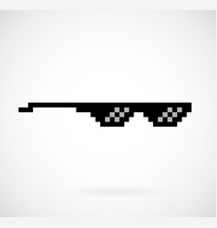 life thug pixel glasses vector image vector image