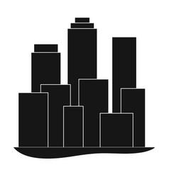 metropolisrealtor single icon in black style vector image
