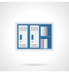 Office lockers flat color design icon vector