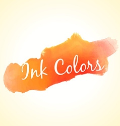 orange ink colors vector image vector image