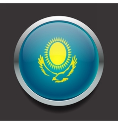 Round flag of kazakhstan vector