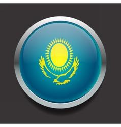 Round flag of Kazakhstan vector image