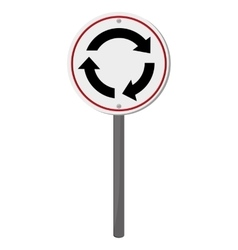 roundabout traffic sign icon vector image vector image