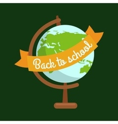 School globe back to concept vector