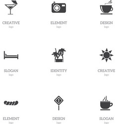 Set of 9 editable journey icons includes symbols vector