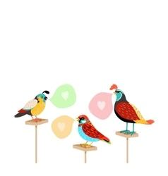 Song birds with speech bubbles vector image