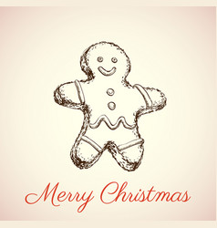 the gingerbread man vector image vector image