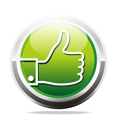Thumb up like finger design icon vector