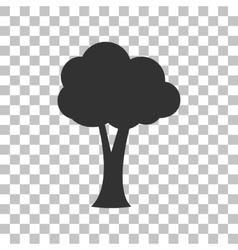 Tree sign Dark gray icon on vector image vector image