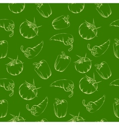Vegetable pattern - green vector image vector image